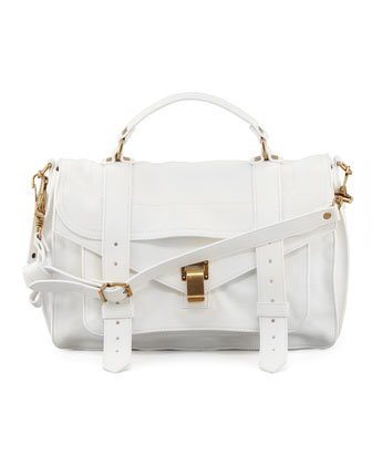 PS1 Medium Satchel Bag, White