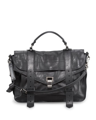 PS1 Medium Satchel Bag, Black