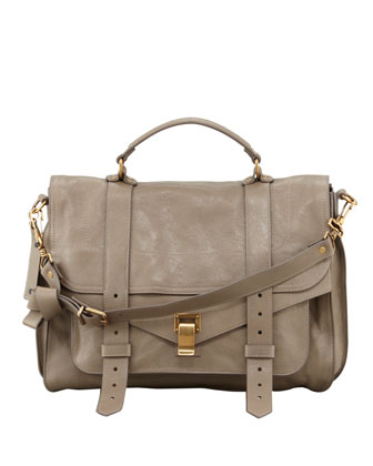PS1 Large Satchel Bag, Smoke