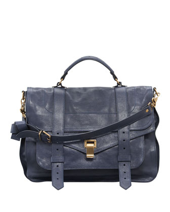 PS1 Large Satchel Bag, Midnight