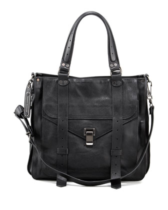 PS1 Leather Tote Bag, Black