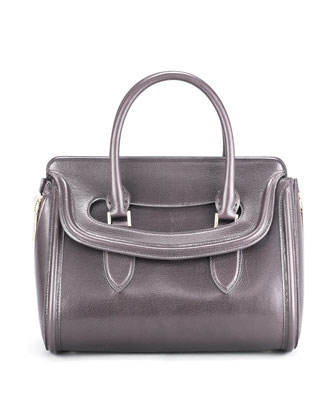 Small Heroine Calfskin Satchel Bag