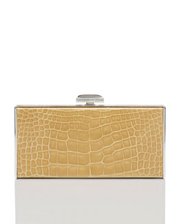 Judith Leiber East-West Rectangle Clutch Bag, Camel