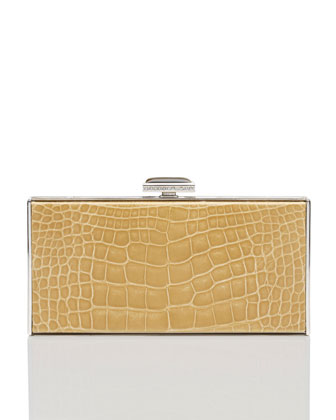 East-West Rectangle Clutch Bag, Camel