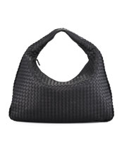 Bottega Veneta Large Veneta Hobo Bag, Black