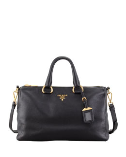 Prada Vitello Daino East-West Tote Bag