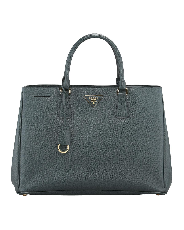 Prada Saffiano Gardner's Tote Bag, Emerald (Green) (Smeraldo)