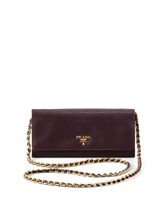 Saffiano Metal Oro Chain Wallet
