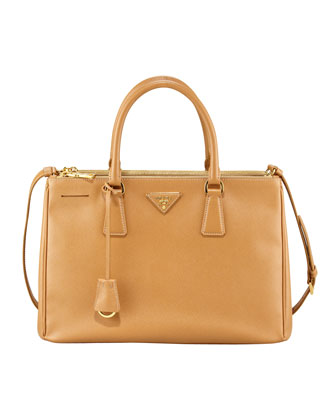 Saffiano Lux Tote Bag, Brown (Caramel)