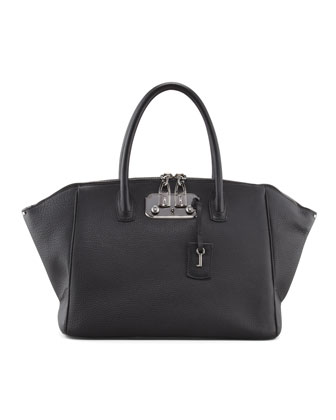 Brera Leather Satchel Bag