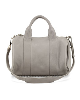 Alexander Wang Rocco Stud-Bottom Duffel Bag, Oyster