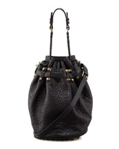 Alexander Wang Diego Bucket Bag, Black/Rose Golden