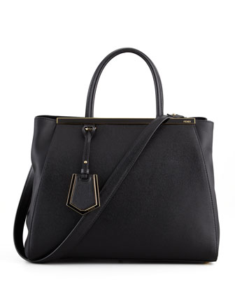 2Jours Vitello Elite Shopping Bag, Black