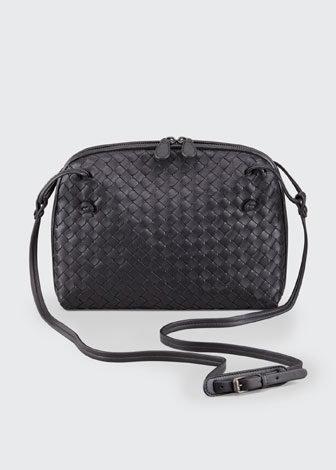 Veneta Small Crossbody Bag, Black