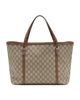 Gucci Nice GG Supreme Canvas Tote, Brown
