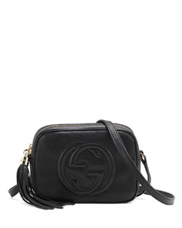 Gucci Soho Leather Disco Bag, Black