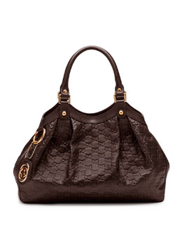 Gucci Sukey Medium Tote Bag, Chocolate