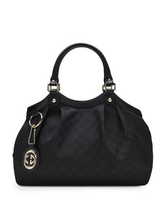 Sukey Original GG Canvas Tote, Black