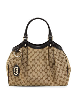 Gucci Sukey Medium Original GG Canvas Tote, Cocoa