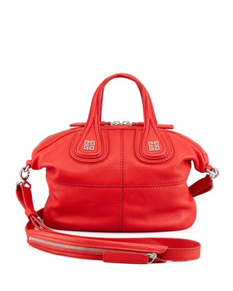 Nightingale Micro Satchel Bag, Red
