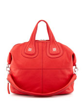 Givenchy Sugar Nightingale Medium Satchel Bag, Medium Red