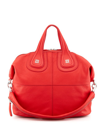 Sugar Nightingale Medium Satchel Bag, Medium Red