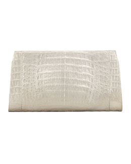 Nancy Gonzalez Metallic Crocodile Clutch Bag
