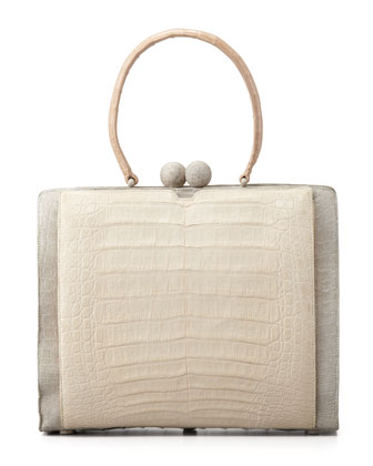 Crocodile Two-Tone Bag
