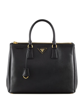 Saffiano Executive Tote Bag, Nero