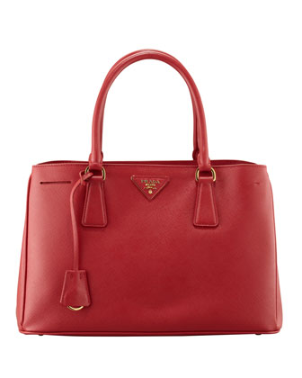 Saffiano Small Gardener's Tote Bag, Red (Fuoco)