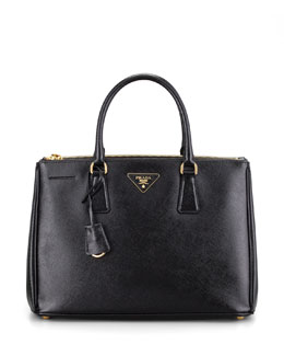 Prada Saffiano Executive Small Tote Bag, Nero