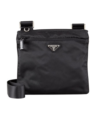 Vela Crossbody Messenger Bag, Black (Nero)