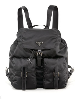 Prada Vela Backpack, Nero