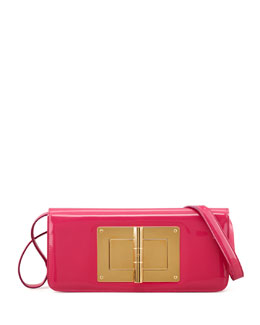 Tom Ford Natalia Patent East-West Turnlock Shoulder Bag