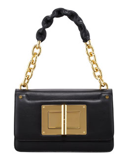 Tom Ford Maxi Chain Large Leather Shoulder Bag