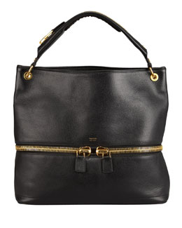 Tom Ford Nina Black Calfskin Hobo Bag