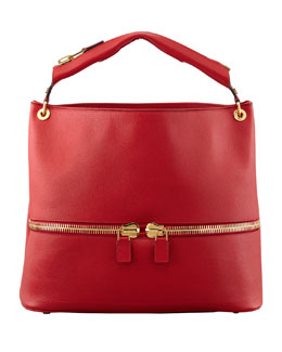 Tom Ford Nina Calfskin Hobo, Red