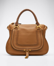 Marcie Large Shoulder Bag, Tan