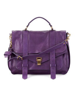 Proenza Schouler PS1 Large Satchel Bag, Plum
