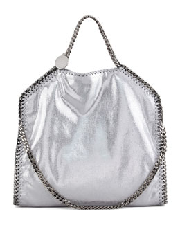 Stella McCartney Falabella Fold-Over Tote Bag, Silver