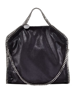 Stella McCartney Fold-Over Falabella Tote Bag, Black