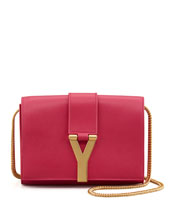 Saint Laurent Y Ligne Mini Pochette Crossbody Bag, Fuchsia