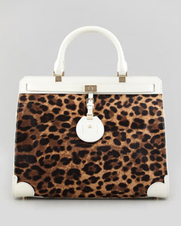 Jason Wu Jourdan Leopard-Print Tote Bag, Brown/White