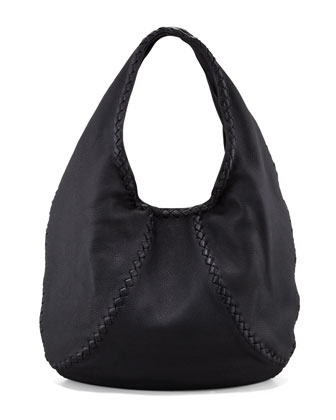 Cervo Large Hobo Bag, Black