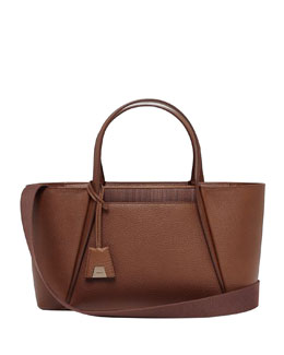Akris Alexa Small Cutout Day Tote Bag, Caramel