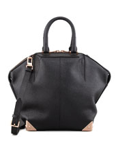 Alexander Wang Small Emile Tote Bag, Black/Rose Golden