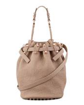 Alexander Wang Diego Bucket Bag, Beige/Rose Golden Hardware