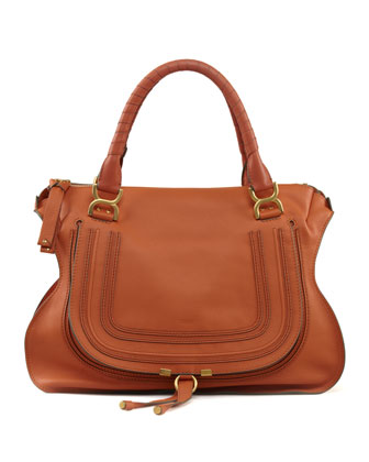 Marcie Large Shoulder Bag, Rust