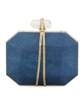Iris Stingray Minaudiere, Blue