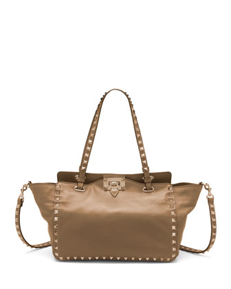 Rockstud Mini Tote Bag, Blush